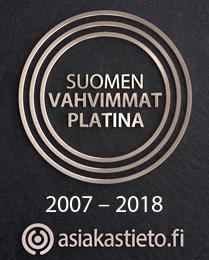 Medita Communication on Asiakastieden Suomen Vahvimmat Platina -sertifioitu yritys 2007-2018